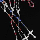 Necklace Religious Acrylic W Prayers Bead/DZ Color Asst
