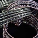 Bracelet Bangle Wide Antique Copper& Brass Finish Mix/DZ Copper & Brass Mix