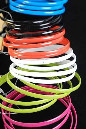 Bracelet 4pcs Metal Bangle Epoxy 6 Color Asst/DZ 6 Color asst