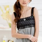 $30/lot of 2 Cotton Floral Lace Elegant Party Dress: Gray and Black
