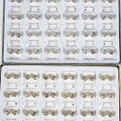 Earrings 8mm Clear Rhinestones 36pairs/DY **HOT**choose Gold Or Silver Finish