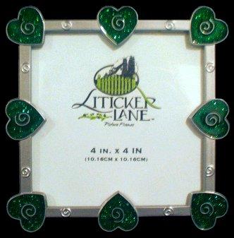 4x4 Green Heart Photo Frame