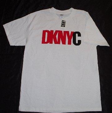NWT DKNY DONNA KARAN VINTAGE-STYLE LOGO T SHIRTS L XL