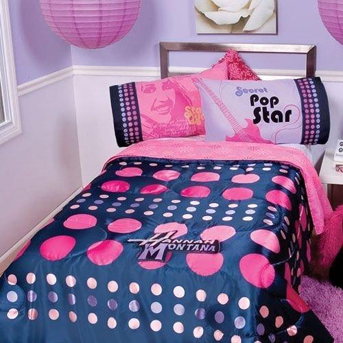 Hannah Montana - Miley Cyrus Disney Full Satin Comforter NEW NIP