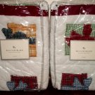 Pottery Barn CHRISTMAS PRESENTS shams (2) New in Packages