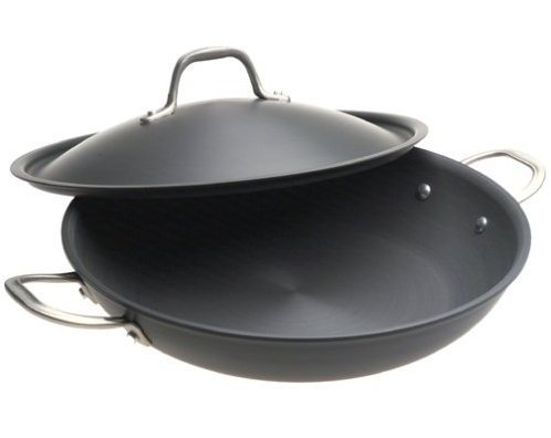 NEW Calphalon Commercial Hard-Anodized 12 inch pan with lid NIB