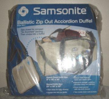 Samsonite Zip Out Accordion Duffel bag NEW