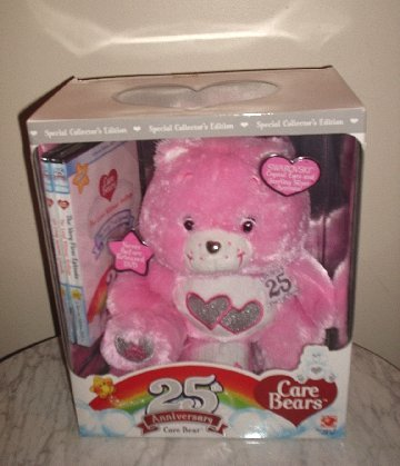 Pink Care Bear 25th Anniversary Limited Edition With DVD *NEW in Box*