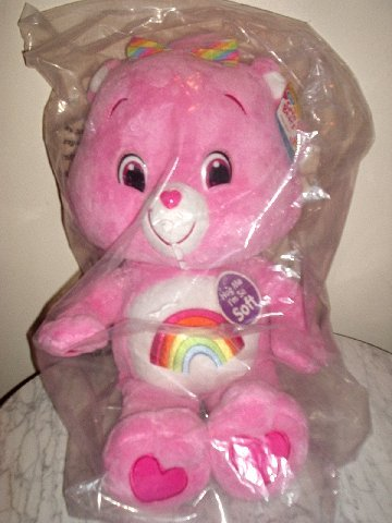"Care Bears Jumbo Huggable Plush 25"" PINK Cheer Bear  *BRAND NEW*"