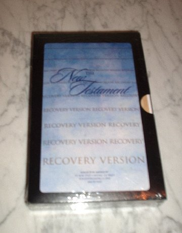 The New Testament: Recovery Version, Black (Paperback) NEW