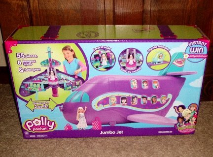 Polly Pocket Polly-Tastic Jumbo Jet Playset *BRAND NEW TOY*