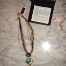 "18K Gold Plated 16"" Multi-Strand Abalone Necklace (designer Rosa Flores) retail $110.00 NEW"