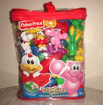 NEW Fisher Price Barnyard Blocks and bag *Brand NEW*