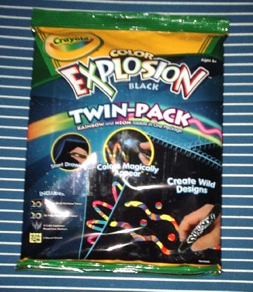 NEW Crayola Color Explosion (Twin Pack Black) toy NIP