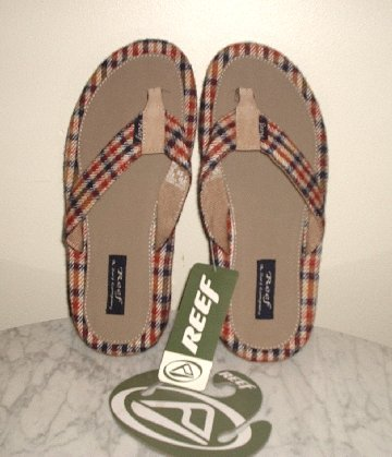REEF BRAZILL PIMP Bushwood Plaid Sandals Mens size 9 *NEW with tags*