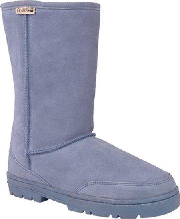 NEW BearPaw Leather & Sheepskin Denim boots NIB Womens 7 Sale