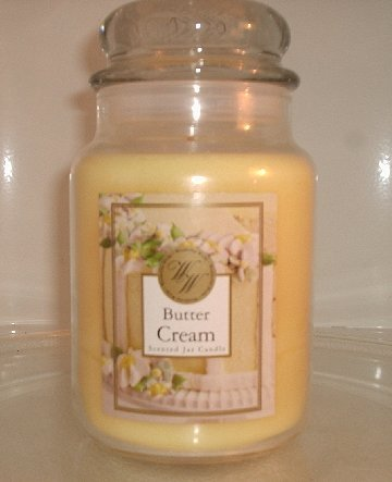 NEW Butter Cream Housewarmer scented 22 oz Jar candle 110-150 hours *as good as Yankee Candle*