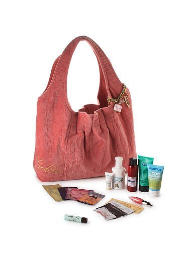 NEW Bath and Body Works BBW Goldie Limited Edition Goldie Faux Velvet PINK Tote with 15 Samples NWT