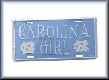 "UNC Carolina Tarheels ""CAROLINA GIRL"" car tag *Brand NEW*"