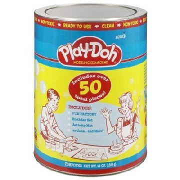 Play Doh Retro Canister *HUGE* with 20 cans & 50 tools NEW
