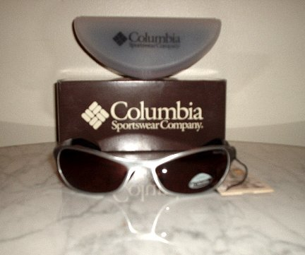 NEW COLUMBIA TACTIC SUNGLASSES SILVER w/case NWT retail $110