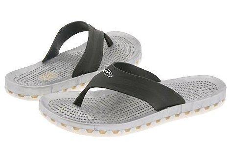 New Sensi Ibiza black thong sandals beach sports 8 NWT