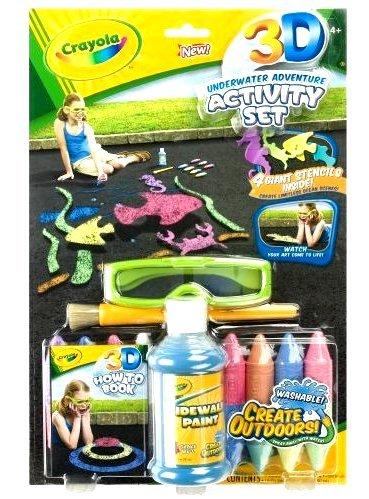 NEW Crayola 3-D Activity Kit Underwater Adventure with 3D chalk NIP
