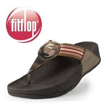 New FitFlops Fit Flop fitness sandals NWT Bronze Pink Womens 8