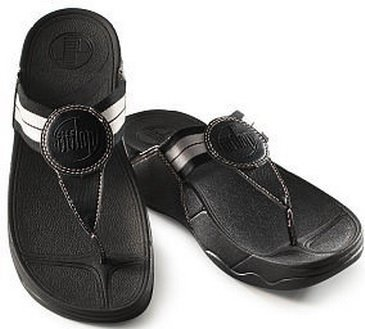 NEW FitFlop FitFlops Walkstar Black Fitness Sandals Womens 8 NWT