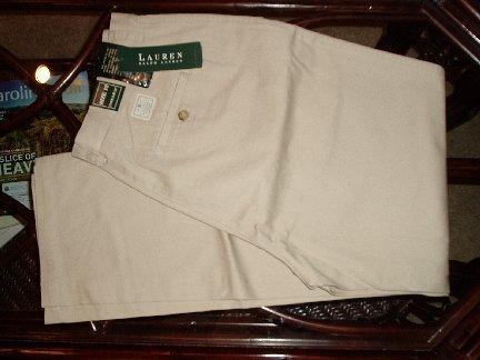 NEW Ralph Lauren Womens Khaki tan pants size 12 NWTs