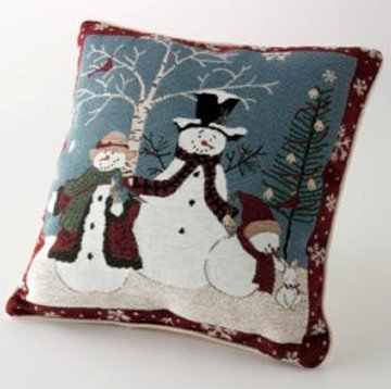 NEW Christmas Holiday Embroidered decorative pillows (2) NWTs Beautiful