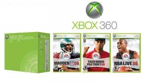 Xbox 360 core Sports Bundle System With 3 Sports Games