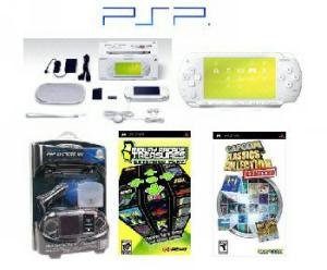 Sony White Psp Limited Edition 41 Games with Car Kit