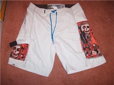 Body Glove Board Surf Shorts Sz 36 Skulls NEW!