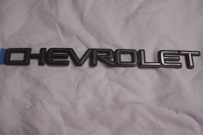 "Chevy rear door emblem ""chevrolet"""
