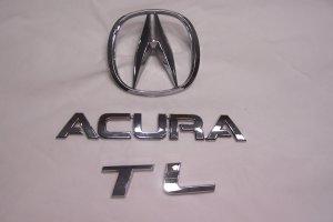 Acura TL trunk emblem 07 TL.