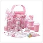 Baby Gift Basket Set in Pink