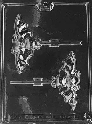 BAT LOLLY CHOCOLATE CANDY MOLD - HALLOWEEN CANDY, PLASTER, SOAP MOLD MOLDS