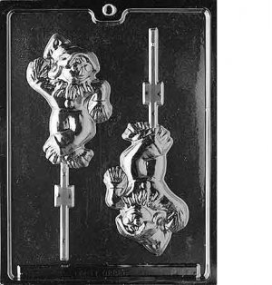 LARGE SCARECROW LOLLY CHOCOLATE CANDY MOLD - HALLOWEEN CANDY MOLD - CANDY, SOAP, PLASTER MOLD MOLDS