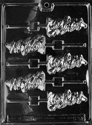 WITCH BROOM LOLLY CHOCOLATE CANDY MOLD-HALLOWEEN CANDY MOLD-CANDY,PLASTER,SOAP MOLD MOLDS