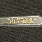OLD DECATUR IL ILL ILLS E L ERWIN OILS 777 N JASPER STREET DIAL 80612 ADVERTISING LETTER OPENER