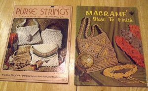 VINTAGE MACRAME BOOKS PURSE STRINGS HANDBAGS AND MACRAME START TO FINISH CRAFT MANUALS FREE SHIPPING