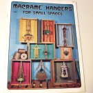 VINTAGE MACRAME BOOK HANGERS FOR SMALL SPACES CRAFT INSTRUCT MANUAL 13 PROJECTS 1975 FREE SHIPPING
