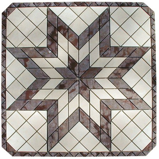 Marble Mosaic Medallion - 32 inch