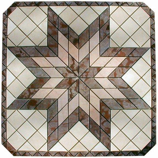 Marble Mosaic Medallion - 32 inch