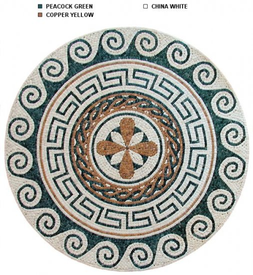 Classic 39.5 inch Marble Mosaic Medallion