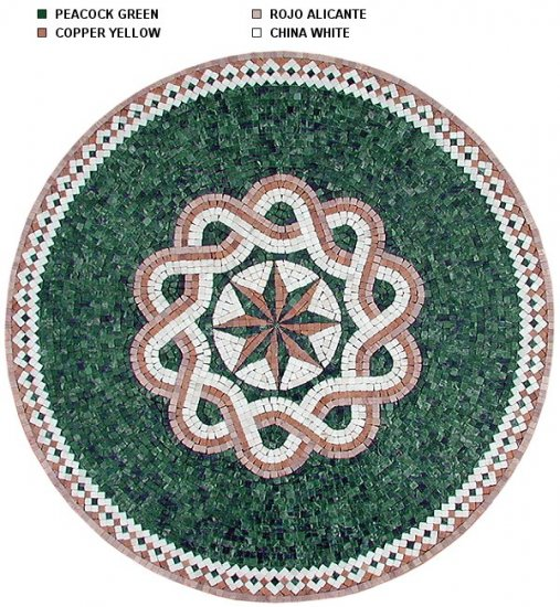 Marble Mosaic Medallion with Popular Design 31.5 inch