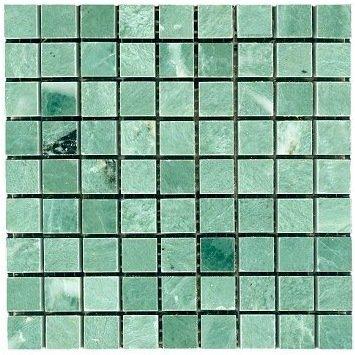 Polished Lushan Green 10mm Tesserae Partial Sheets