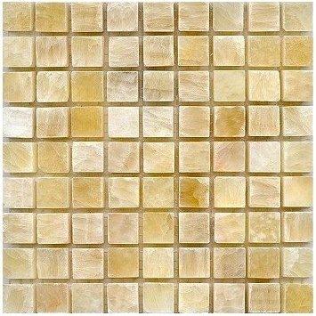Loose Polished Honey Onyx Marble Mosaic Tesserae 7mm Thick