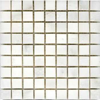 Loose Polished Bianco Carrara Marble Mosaic Tesserae 7mm Thick